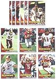 2010 Topps Washington Redskins Complete Team Set of 12 cards including Donovan McNab, Clinton Portis, Larry Johnson, Santana Moss, Trent Williams Rookie & more !