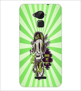 PrintDhaba Music Skull D-5851 Back Case Cover for COOLPAD NOTE 3 LITE (Multi-Coloured)