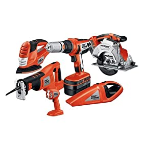 Black & Decker Firestorm 18v 6 Tool Cordless Combo Kit