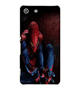 Fuson Spiderman Back Case Cover for SONY XPERIA M5 - D3693