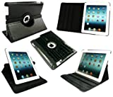 Emartbuy New Ipad 3 & Apple Ipad 2 Black Snakeskin Effect Multifunctional / Multi Angle Folio / Cover / Stand / Typing Case With Magnetic Sleep Wake Sensor (All versions Wi-Fi and Wi-Fi + 3G/4G - 16GB 32GB 64GB)