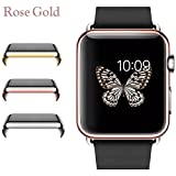 Josi Minea Apple Watch [38mm] Protective Snap-On Case with Built-in Clear Glass Screen Protector - Anti-Scratch & Shockproof Shield Guard Full Cover for Apple Watch Series 2 - 38mm [ Rose Gold ]