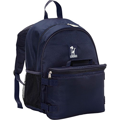 Wildkin Blue Rip-Stop Bogo Backpack with Lunch Bag, One Size
