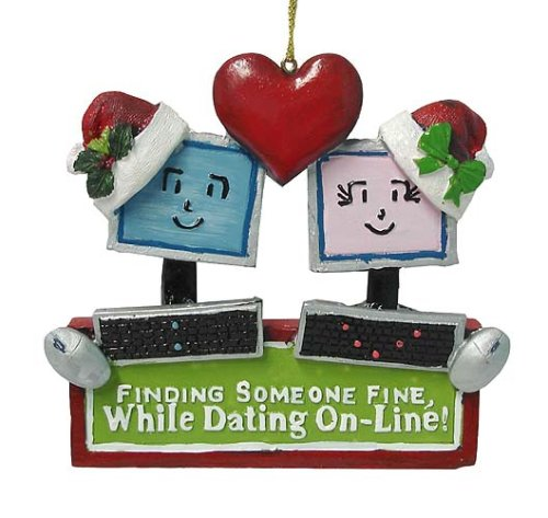 Dating Online Christmas Ornament