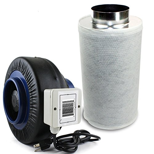 Maximum Horticulture Centrifugal Inline Duct Fan With Charcoal Carbon Filter (4 inch, Fan & filter) (Inline Fan Air Filter compare prices)
