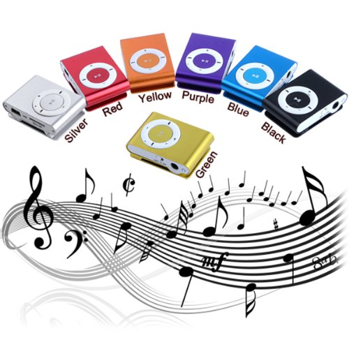 Mini Clip Metal USB MP3 Music Media Player With Micro TF/SD Card Slot Support 1-8GB + Earphone