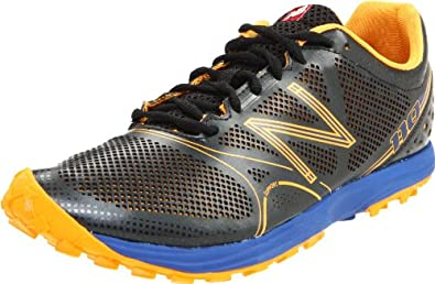 New Balance Men's MT110 Trail Running Shoe,Black/Orange,7 2E US