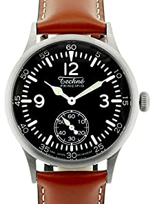 buy Techne 38Mm Merlin Quartz Aviator Watch With Onion Crown And Small Seconds 249.053