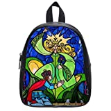 Beauty and the Beast Classic Custom Kid's School Bag, Small Size PU Leather