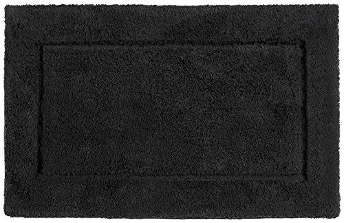 Kassatex Classic Egyptian Bath Rug - Black - 30 in. x 50 in. - 1