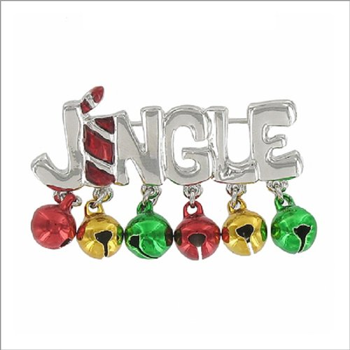 Jingle Sign with Bell Charms Pin #041889