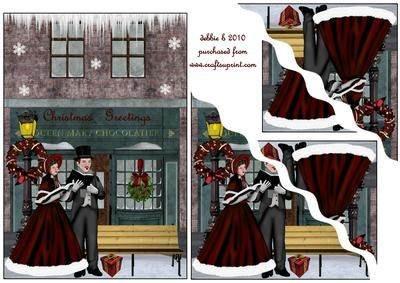 Mit violettfarbener Auskleidung Weihnachtslieder abspielen gewellten Ecken von DEBORAH Beatty