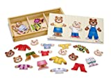 Melissa &amp; Doug Wooden Bear Family Dress-Up Puzzle