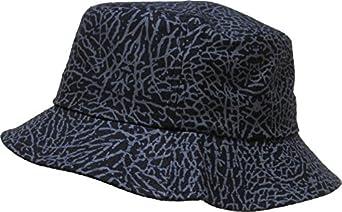 KBETHOS M-010 Elephant Skin Bucket Hat Cap - BLACK