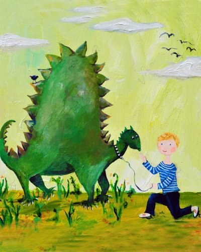 Cici Art Factory Wall Art, Dino Paper Print, Small