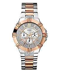 Guess Analog White Dial Womens Watch - W0024L1