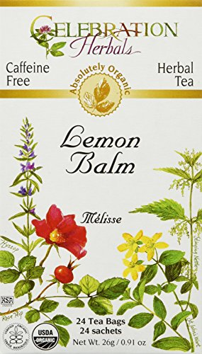 Celebration Herbals Lemon Balm Tea Bags, 24 Count
