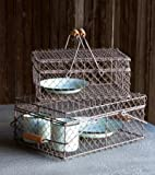 Rustic Style Wire Lunch Basket Set of 2