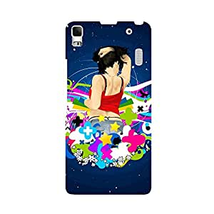 Skintice Designer Back Cover with direct 3D sublimation printing for Lenovo A7000