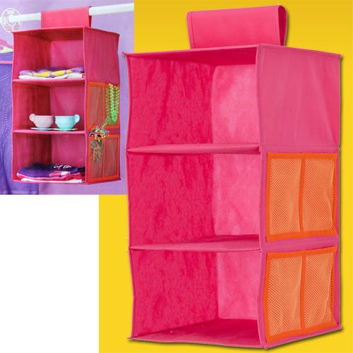Kinderregal – Stoffregal – Hängeregal 3er Pink jetzt bestellen