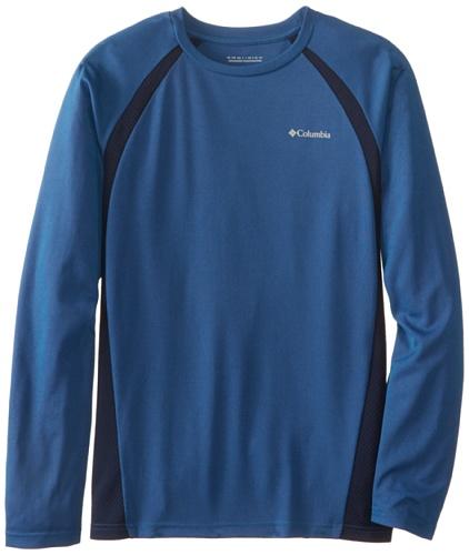 Columbia Sportswear Boy'S Silver Ridge Ii Long Sleeve Tech Tee (Youth), Hyper Blue, Medium front-1000554