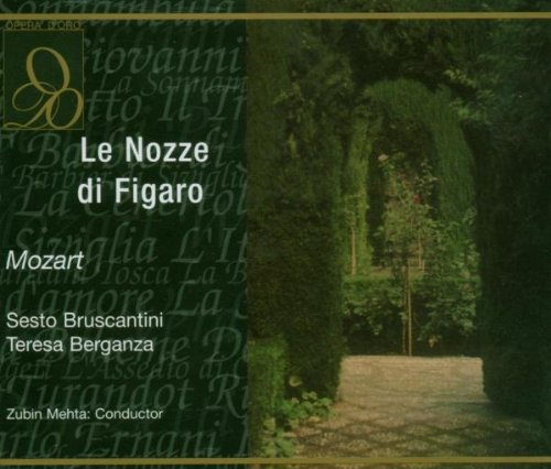 Marriage of Figaro (Complete Opera- Berganza/Metha) - Mozart - CD