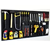 "WallPeg 24"" x 48"" Garage Pegboard Kit with Pegboard Accessories AM 24242BK"