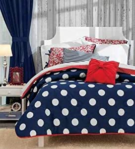 New girls red blue white comforter sheet - Red white and blue sheets ...