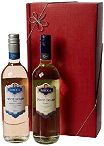 Le Bon Vin Pinot Grigio Twin Wine Gift Set 75 cl (Case of 2)