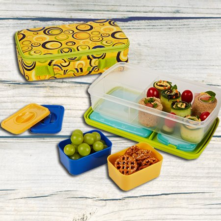 Fit Amp Fresh Kids Bento Lunch Kit With Insulated Carrier