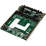 StarTech Dual mSATA SSD to 2.5 inch SATA Adapter with RAID and 7mm Open Frame Housing