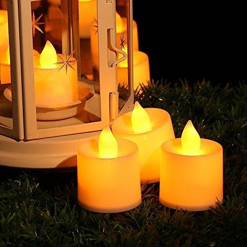 (リーダーテク)LederTEK 黄色 12個セット 電子電池ろうそく ledキャンドル 無煙蝋燭 室内電飾 クリスマス パーディー 結婚式 屋外 夕飯飾り