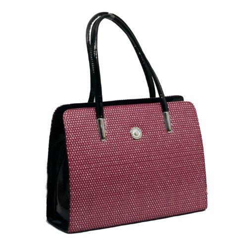 Bagizaa Pink Designer Handbag (multicolor)