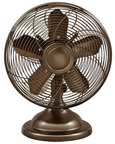 Optimus F-6212 Oscillating Antique Table Fan, 12-Inch, Copper (Appliance Table compare prices)