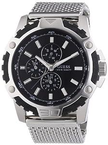 Guess Herren-Armbanduhr XL FIBER Analog Quarz Edelstahl W19530G1