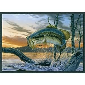 "Associated Weavers ""Strike King"" (Bass) Wildlife Rug 36""X52"""
