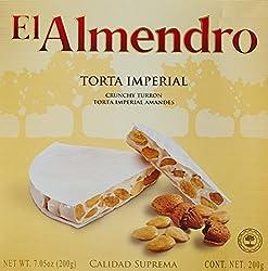 El Almendro Crunchy Almond Turron Round, 200g