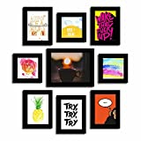 Art Street Set of 9 Quote Photo frames - Rise and Shine theme wall quotes