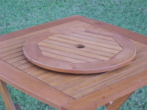Royal Tahiti 20 in. Lazy Susan Round Swivel Patio Table Server