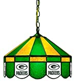 NFL Green Bay Packers 16-Inch Diameter Stained Glass Pub Light