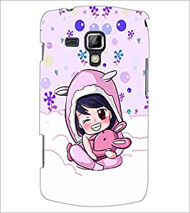 PrintDhaba Cartoon D-5865 Back Case Cover for SAMSUNG GALAXY S DUOS S7562 (Multi-Coloured)