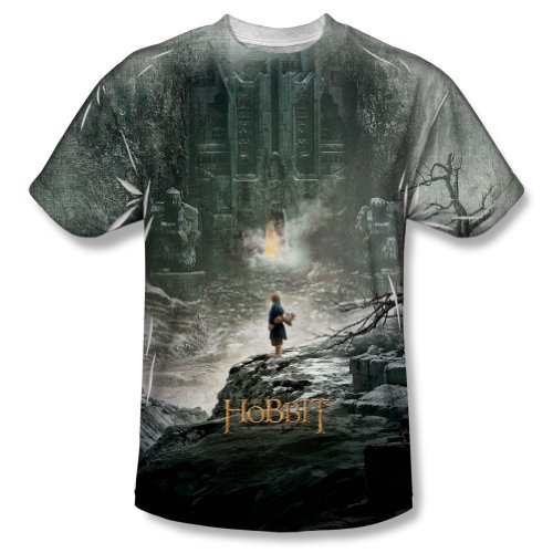The Hobbit Desolation Of Smaug Big Movie Poster Bilbo Adult Front Print T-Shirt