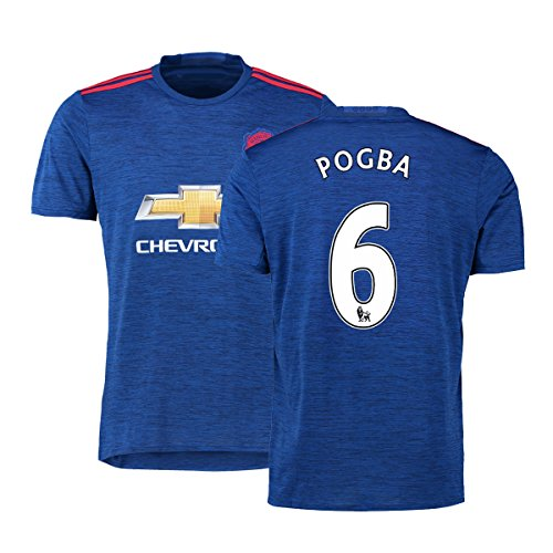 FC Football Jersey Manchester United Soccer Jersey Away Shirt 2016-17 Mens #6 Pogba Blue S (Cheap Manchester United Jersey compare prices)