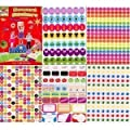 2 X Over 1000 reward stickers childrens teachers smiley face stars and more