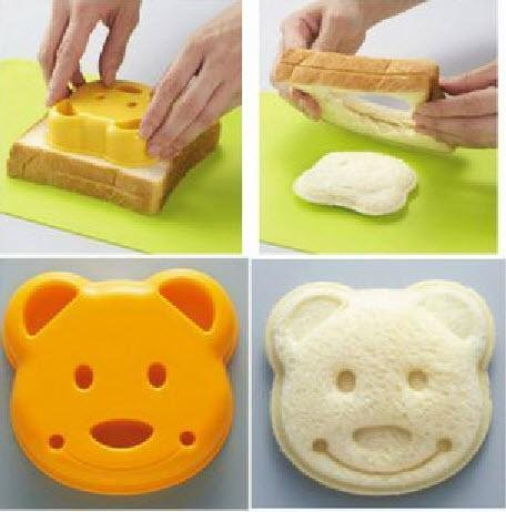 New Cute Pocket Sandwich Bread Mold Mould Cutter (Bear Shape)