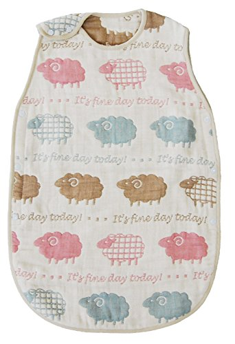 Sundeck 6 heavy gauze sleeper (L) sheep [made in Japan] [2-year-old and 7-year-old was] [each wash fluffy] 3305-9999-15