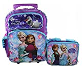 Disney Frozen Rolling 16 Backpack and Lunch Bag Lunchbox 2pc