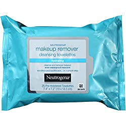 Neutrogena Hydrating Makeup Remover Cleansing Towlettes 25 Count (Pack of 3)