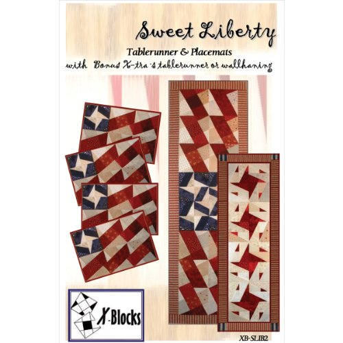 X-Block Quilt Queen Designs Patterns, Sweet Liberty