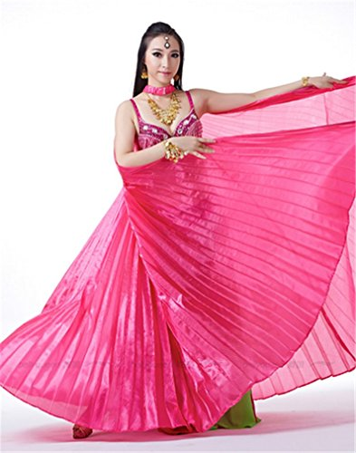 Dreamspell Beautiful Big Isis Wings Rose Red Transparent for Belly Dance